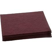 Nilfisk Cleaning Floor Pad, Maroon, 10/Pack (997024)