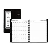 """2021 Blue Sky 8.25"""" x 11"""" Appointment Book, Aligned, Black (123845)"""