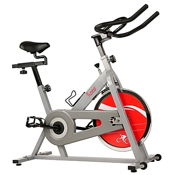 Sunny Health & Fitness Chain Drive Indoor Cycling Trainer Exercise Bike, Silver (SF-B1001S),Size: med