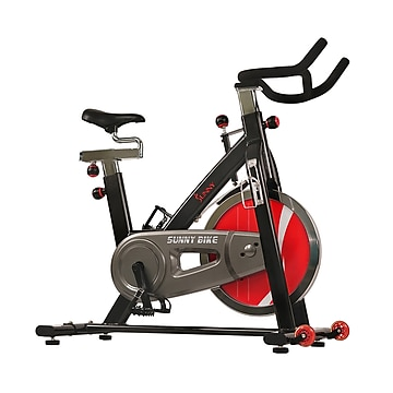 Sunny Health & Fitness Chain Drive Indoor Cycling Trainer Exercise Bike, Black (SF-B1002C),Size: med