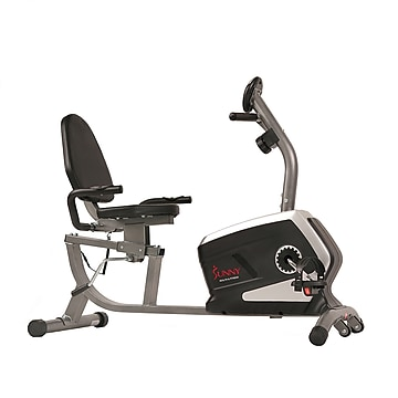 Sunny Health & Fitness Magnetic Recumbent Bike Exercise Bike (SF-RB4616),Size: large