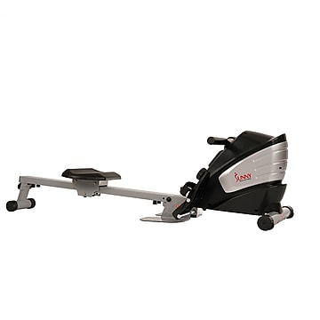 Sunny Health & Fitness Dual Function Magnetic Rowing Machine Rower with LCD Monitor (SF-RW5622),Size: large