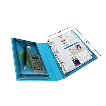 """Avery Mini Durable Protect & Store Standard 1"""" 3-Ring View Binder, Blue (23014)"""