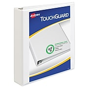 """Avery TouchGuard Protection Heavy Duty 1 1/2"""" 3-Ring View Binder, White (17142)"""