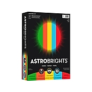 """Astrobrights Eco Colored Paper, 24 lbs., 8.5"""" x 11"""", Assorted Colors, 500 Sheets/Pack (22226)"""