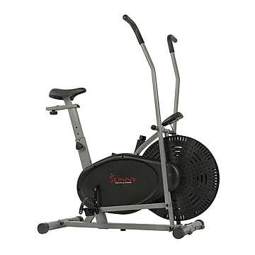 Sunny Health & Fitness SF-B2618 Air Resistance Hybrid Upright Exercise Bike with Arm Exercisers (SF-B2618),Size: large