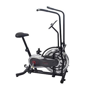 Sunny Health & Fitness Zephyr Air Bike, Fan Exercise Bike with Unlimited Resistance, Adjustable Handlebars (SF-B2715)