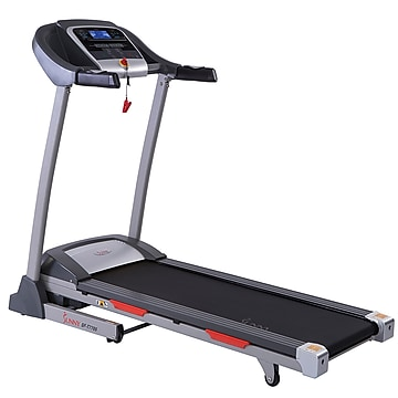 Sunny Health & Fitness Portable Treadmill with Auto Incline, LCD, Smart APP and Shock Absorber (SF-T7705)