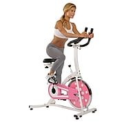 Sunny Health & Fitness P8100 Pink Chain Drive Indoor Cycling Trainer Exercise Bike (P8100)