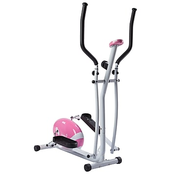 Sunny Health & Fitness P8300 Pink Magnetic Elliptical Trainer Elliptical Machine with LCD Monitor (P8300)