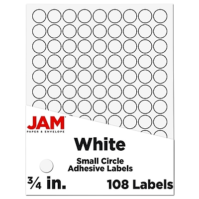 108 of 20 x 20 mm SQUARE STICKER Sticky Adhesive Paper Label Free P/&P UK SS2020