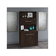 """Bush Business Furniture Office 500 70.09"""" Storage Cabinet with 4 Shelves, Black Walnut, Installed (OF5008BWSUFA)"""