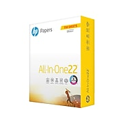 """HP All-In-One22 8.5"""" x 11"""" Multipurpose Paper, 22 lbs., 96 Brightness, 750 Sheets/Ream (208850)"""