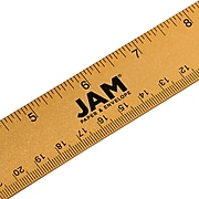 """JAM Paper Stainless Steel 12"""" Ruler, Gold (347M12GO)"""