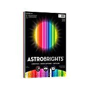 """Astrobrights Spectrum 8.5"""" x 11"""" Cardstock Paper, 65 lbs., Assorted Colors, 75 Sheets/Pack (80944-01)"""