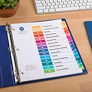 Avery Ready Index Customizable Table of Contents Dividers, 15-Tabs, Multicolor, 15/Per Set, 6/Pack (11197)