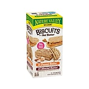 Nature Valley Biscuits with Nut Butter, Honey Peanut Butter/Cinnamon Almond Butter, 40.5 oz., 30 Pouches/Pack (46827)