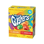 Betty Crocker Fruit Gushers Flavored Snacks, Strawberry Splash/Tropical Flavors, 33.6 oz., 42 Pouches/Pack (14698)