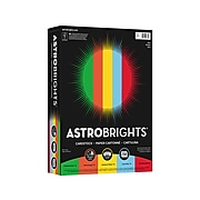 """Astrobrights Eco Cardstock Paper, 65 lbs., 8.5"""" x 11"""", Assorted Colors, 50 Sheets/Pack (98853)"""