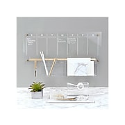 Russell+Hazel Acrylic Bloc Collection Weekly Wall Calendar, Clear/Gold Acrylic (44623)