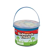 Toysmith Jumbo Sidewalk Chalk, Assorted Colors, 20/Bucket (2551)