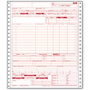 """Paris Health Insurance Claim Forms 9 1/2"""" x 11"""" 20 lbs. Medical Healthcare Form, White, 2500/Case"""