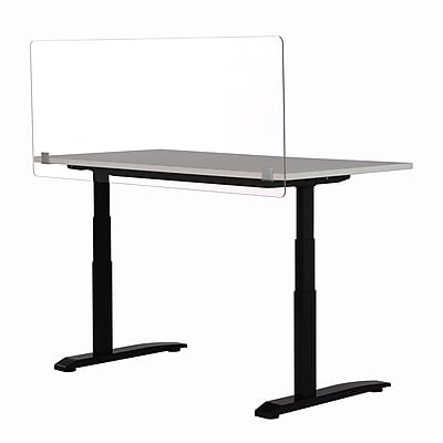 Three-Sided Desk Barrier Clear Polycarbonate Sneeze Guard 24 x 24 x 12