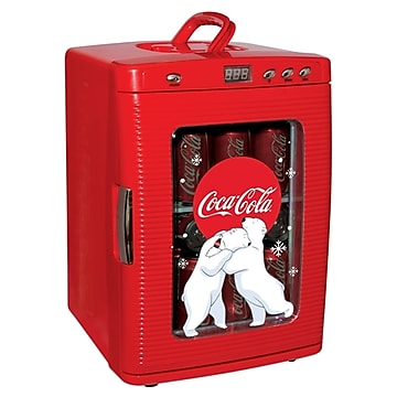 Coca-Cola 0.9 Cu. Ft. Refrigerator, Red (KWC25),Size: large
