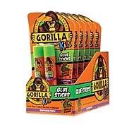 Gorilla Glue® School Glue Sticks, 0.21 oz/Stick, Dries Clear, 12 Sticks/Box