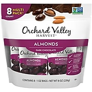 Orchard Valley Harvest Almonds, Dark Chocolate Covered Almonds, 8 oz. (JOH13653)