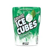 Ice Breakers Ice Cubes, Sugar Free, Spearmint Gum, 40 Pieces/Pack  (HEC70124)