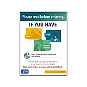 """National Marker Poster, """"Please Read Before Entering,"""" 24"""" x 18"""", Multicolor (PST143)"""