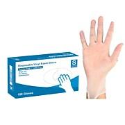Powder Free Vinyl Exam Gloves, Small, 100/Box (VM4512)