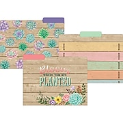 """Teacher Created Resources Rustic Bloom File Folders, 3-Tab, 11.75"""" x 9.5"""", Assorted Colors, 12/Pack, 2/Bundle (TCR8539)"""
