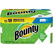 Bounty Select-A-Size Kitchen Rolls Paper Towel, 2-Ply, White, 83 Sheets/Roll, 12 Rolls/Carton (74795/95026)