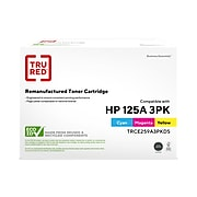 TRU RED™ Remanufactured Cyan/Magenta/Yellow Standard Yield Toner Replacement for HP 125A/Canon 116 (CE259A/2660B015AA), 3/Pack