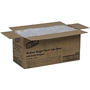 Dixie Polystyrene Soda Spoon, Medium-Weight, White, 1000/Carton (SSM23)