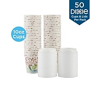 Dixie PerfecTouch WiseSize Insulated Paper Cup & Lid Combo, 10 oz., White, 50/Pack (5310COMBO600)