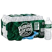 Poland Spring 100% Natural Spring Water, Regular Flavor, 16.9 oz. Plastic Bottles, 24/Carton (12119419)
