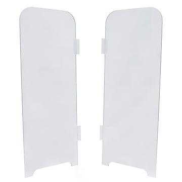 """Ergotech Flex-Shield 30""""H x 11.75""""W Accessory Wings, Clear, 2/Pack (SHIELD-WINGS)"""
