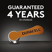 Duracell Size 10 Hearing Aid Batteries, 8/Pack (DA10B8ZM10)