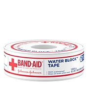 """Band-Aid Brand First Aid Water Block Waterproof Adhesive Tape Roll, .5"""" x 10 yd. (111712000)"""