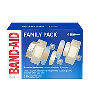 Band-Aid Brand Adhesive Bandage Family Variety Pack, Assorted Sizes, 280/Box (485107)