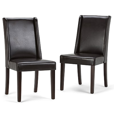 Simpli Home Sotherby Deluxe Dining Chairs (AXCDCHR-002-BR)