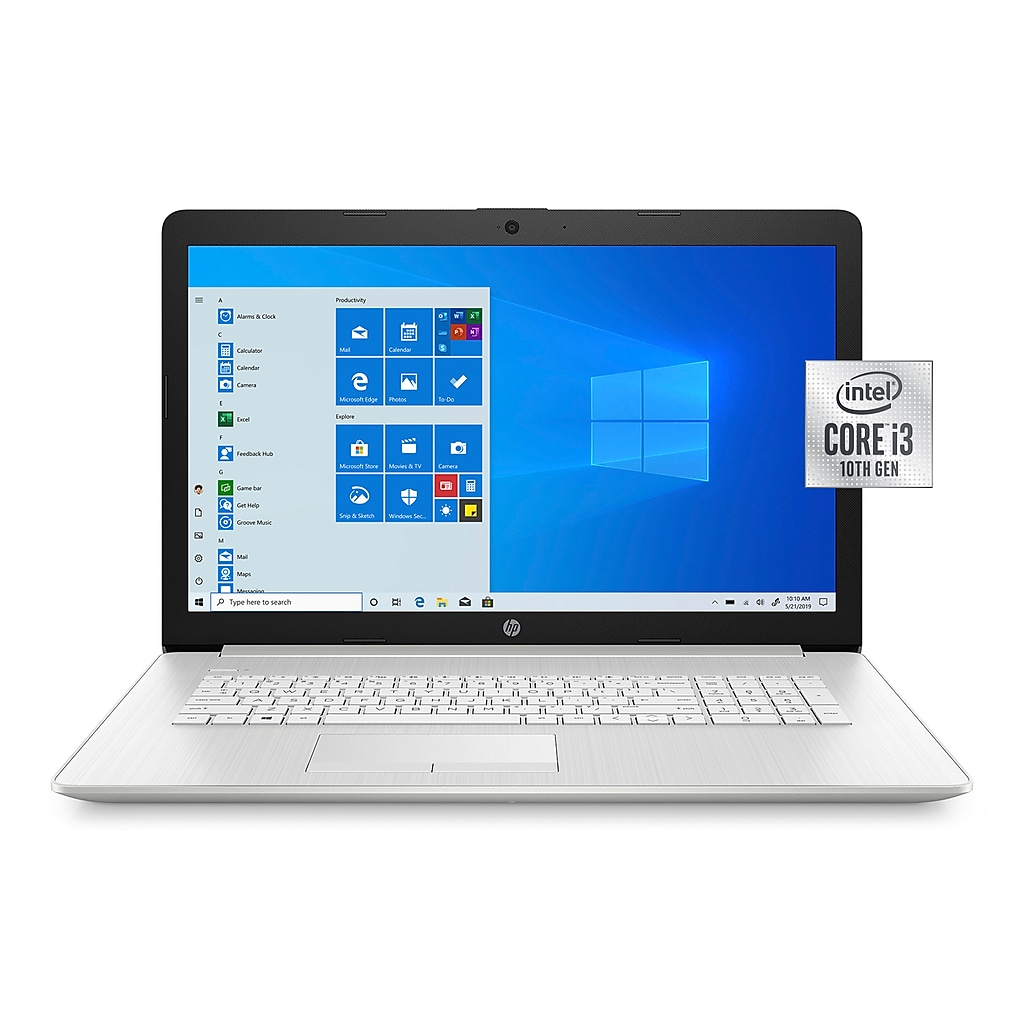 "HP 17-by3063st 17.3"" Notebook, Intel i3, 8GB Memory, 128GB SSD + 1TB Hard Drive, Windows 10, Silver"