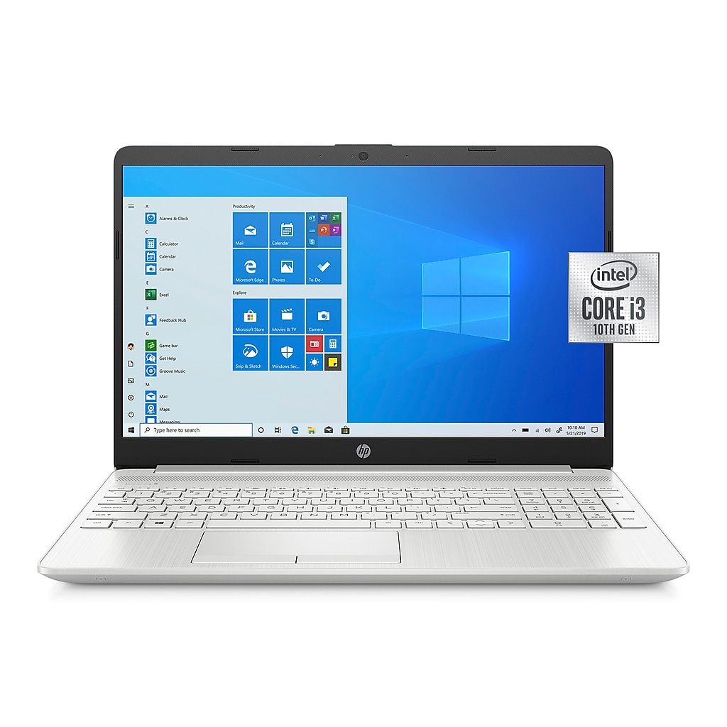 "HP 15-dw2063st 15.6"" Notebook, Intel i3, 8GB Memory, 128GB SSD, Windows 10, Silver"