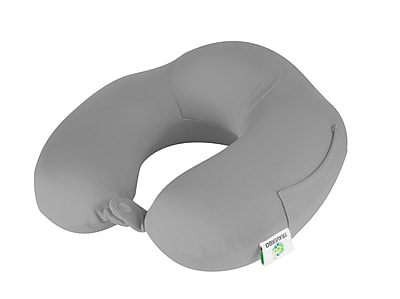 Travergo Memory Foam Spandex Neck Pillow, Gray TR1080GY