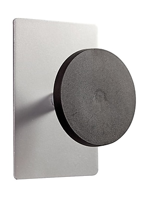 ALBA Magnetic Rounded Coat Peg with Strong Magnet, Steel (PMS1MAG)