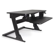 "ALBA Move HOP! 32""W Black Sit to Stand Adjustable Desk Riser from 6"" to 20"" (TBSITSTANDN)"