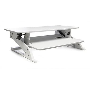 Alba Move HOP Sit to Stand Adjustable Desk Riser, 32